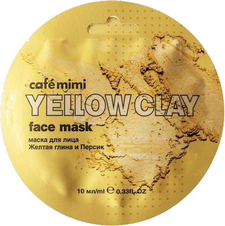 Gesichtsmaske mit gelber Tonerde und Pfirsichöl - Cafe Mimi Face Mask