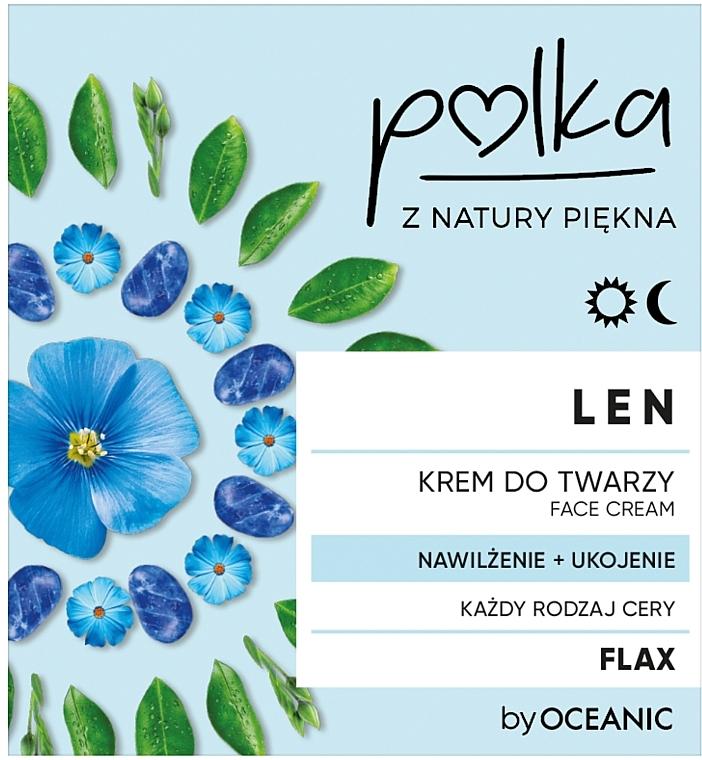 Feuchtigkeitsspendende und beruhigende Gesichtscreme mit Lein - Polka Face Cream