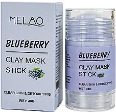 Düfte, Parfümerie und Kosmetik Reinigende und entgiftende Gesichtsmaske in Stick mit Blaubeere - Melao Blueberry Clay Mask Stick