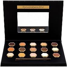 Düfte, Parfümerie und Kosmetik Lidschatten-Palette - Cosmetic 2K Polygon Eyeshadow Palette