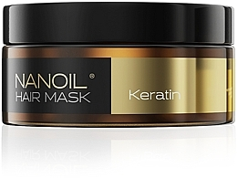Düfte, Parfümerie und Kosmetik Regenerierende Haarmaske mit Keratin für schwaches und strapaziertes Haar - Nanoil Keratin Hair Mask