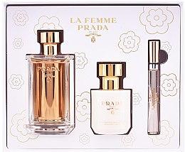 Düfte, Parfümerie und Kosmetik Prada La Femme Prada - Duftset (Eau de Parfum 100ml + Körperlotion 100ml +Eau de Parfum mini 10ml)