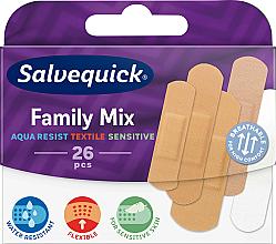 Düfte, Parfümerie und Kosmetik Wasserfeste Pflaster 26 St. - Salvequick Family Mix