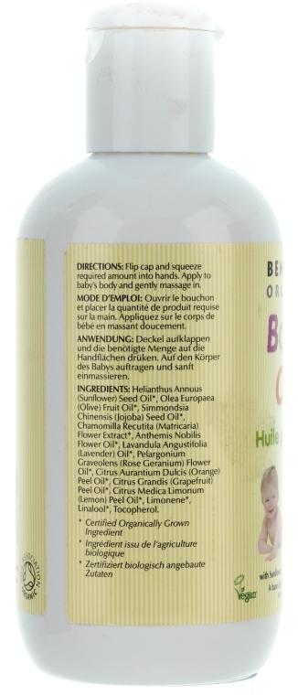Bio Babyöl mit Sonnenblume, Jojoba und Kamille - Bentley Organic Baby Oil — Bild N2