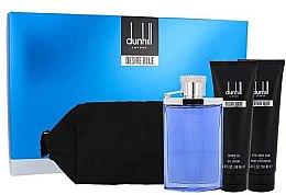 Düfte, Parfümerie und Kosmetik Alfred Dunhill Desire Blue - Duftset (Eau de Toilette 100ml + After Shave 90ml + Duschgel 90ml + Kosmetiktasche)