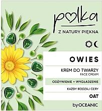 Düfte, Parfümerie und Kosmetik Pflegende und glättende Gesichtscreme mit Hafer - Polka Oat Face Cream