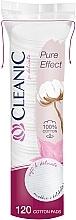 Düfte, Parfümerie und Kosmetik Kosmetische Wattepads Pure Effect 120 St. - Cleanic Face Care Cotton Pads