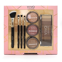 Düfte, Parfümerie und Kosmetik Make-up Set für Gesicht und Augen - Vivo London Natural Collection