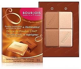 Kompaktpuder für Gesicht - Bourjois Delice De Poudre Bronzing Duo Powder + Highlighter — Bild N2