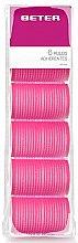 Düfte, Parfümerie und Kosmetik Klettwickler 44 mm rosa 6 St. - Beter