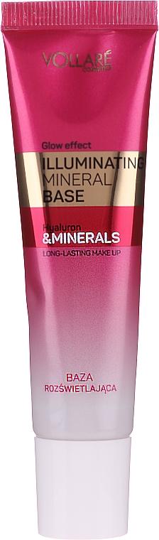 Glättende Make-up Base mit Mineralien und Hyaluronsäure für strahlende Haut - Vollare Glow Effect Illuminating Mineral Base