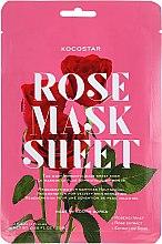Düfte, Parfümerie und Kosmetik Lifting-Tuchmaske mit Rosenextrakt - Kocostar Slice Mask Sheet Rose