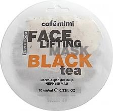 Düfte, Parfümerie und Kosmetik Lifting-Peelingmaske für das Gesicht mit schwarzem Tee und Zitronengras - Cafe Mimi Face Mask
