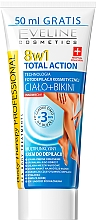 Düfte, Parfümerie und Kosmetik 8in1 Enthaarungscreme für Beine und Bikinizone - Eveline Cosmetics 8w1 Total Action