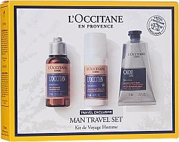 Düfte, Parfümerie und Kosmetik Körperpflegeset - L'Occitane Man Travel Set (Duschgel 75ml + Deo Roll-on 50ml + After Shave Balsam 75ml)