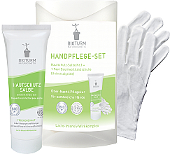 Düfte, Parfümerie und Kosmetik Handpflegeset - Bioturm Hand Care Set (Hautschützende Salbe 50ml + Baumwollhandschuhe 2 St.)