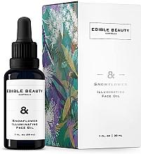 Düfte, Parfümerie und Kosmetik Aufhellendes Gesichtsöl mit botanischen Ölen - Edible Beauty Snowflower Illuminating Face Oil
