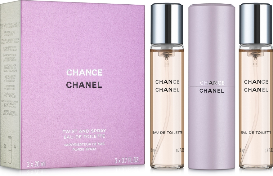 Chanel Chance - Eau de Toilette (2x20ml Refill + 1x20ml Parfümzerstäuber) — Bild N1