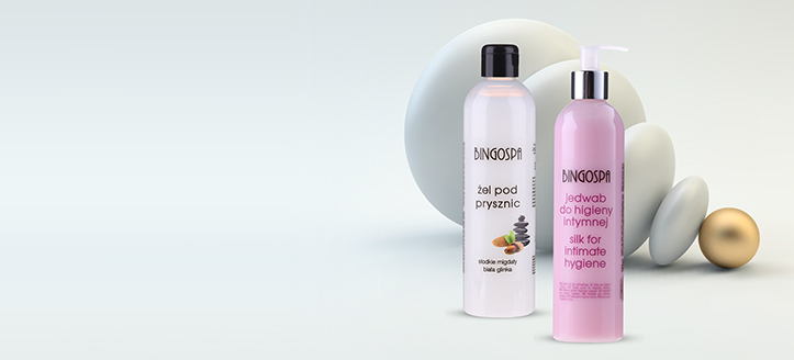 Bestelle BingoSpa Produkte ab 13 € und wir schenken dir Gel für die Intimhygiene mit Seidenproteinen