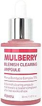 Düfte, Parfümerie und Kosmetik Bleichende und feuchtigkeitsspendende Gesichtsessenz gegen Sommersprossen und Pigmentflecken - A'pieu Mulberry Blemish Clearing Ampoule