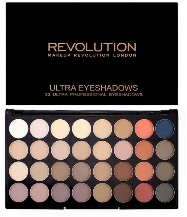 Lidschatten-Palette mit 32 Farben - Makeup Revolution Ultra 32 Shade Palette Flawless Matte 2 — Bild N1