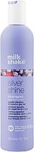 Düfte, Parfümerie und Kosmetik Pflegendes und farbschützendes Shampoo für blondes und graues Haar mit Blaubeerextrakt und Milchproteinen - Milk_Shake Silver Shine Shampoo