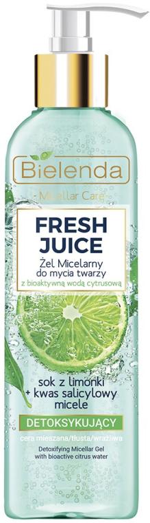 Mizellen-Gesichtswaschgel mit Detox-Effekt - Bielenda Fresh Juice Detox Lime