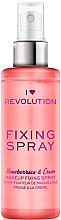 Düfte, Parfümerie und Kosmetik Make-up-Fixierer - Makeup Revolution Fixing Spray Strawberries & Cream