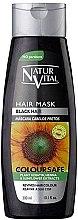 Düfte, Parfümerie und Kosmetik Haarmaske mit Keratin, Henna und Sonnenblumen-Extrakt für schwarze Haaren - Natur Vital Coloursafe Henna Hair Mask Black Hair