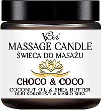 Düfte, Parfümerie und Kosmetik Massagekerze Choco & Coco - VCee Massage Candle Choco & Coco Coconut Oil & Shea Butter