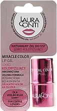 Düfte, Parfümerie und Kosmetik Feuchtigkeitsspendendes Lippengel rosafarbig - Laura Conti Miracle Color Lip Gel