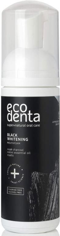 Erfrischender und aufhellender Mundschaum mit Eichenkohle - Ecodenta Black Whitening Mouthfoam