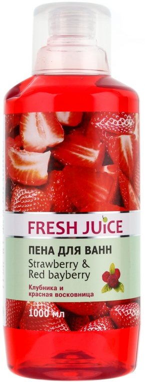 Schaumbad mit Erdbeere und roter Lorbeere - Fresh Juice Strawberry and Red Bayberry