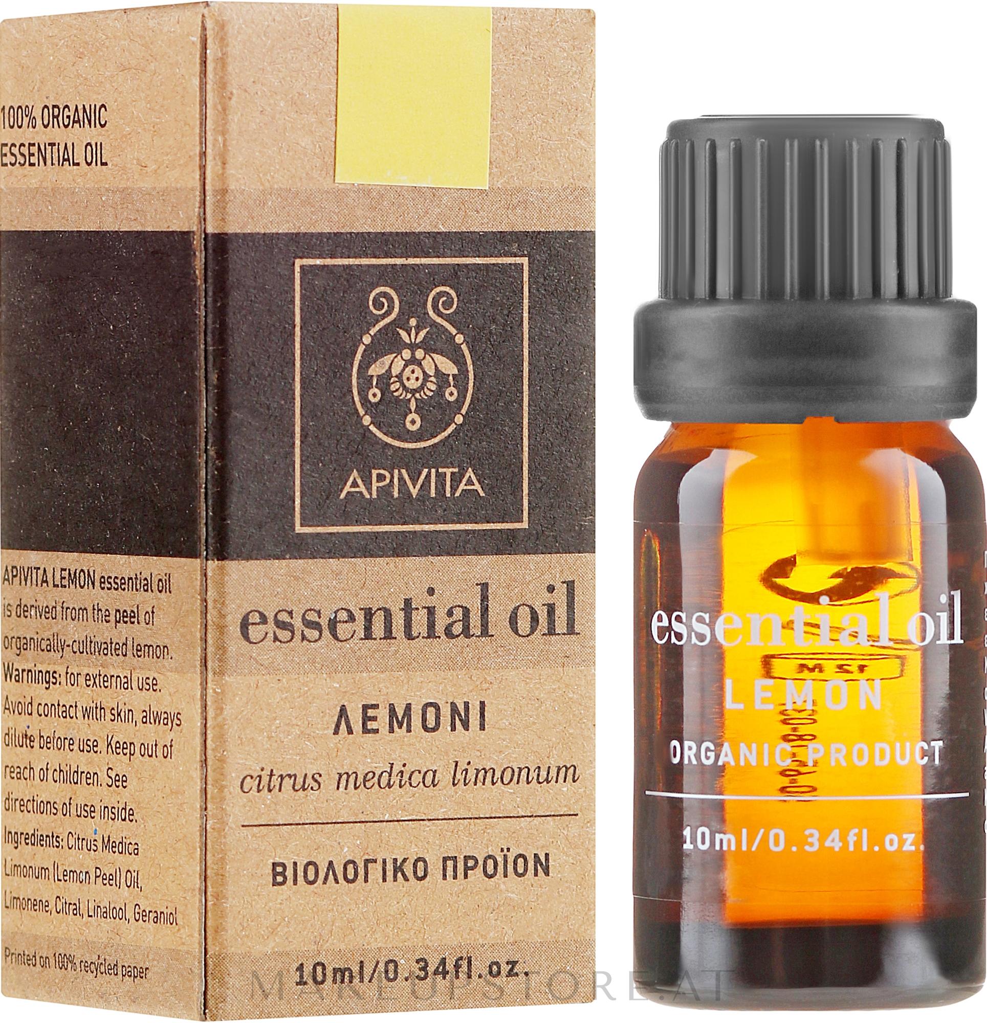 Ätherisches Öl Zitrone - Apivita Aromatherapy Organic Lemon Oil — Bild 10 ml
