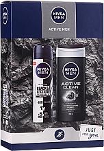 Düfte, Parfümerie und Kosmetik Männerset - Nivea Active Care (Duschgel 250ml+Deospray 150ml)