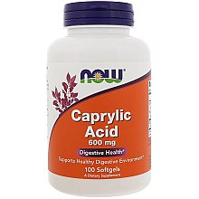 Düfte, Parfümerie und Kosmetik Nahrungsergänzungsmittel Caprylsäure 600 mg - Now Foods Caprilyc Acid