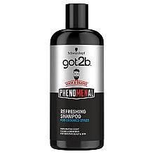 Düfte, Parfümerie und Kosmetik Erfrischendes Haar- und Bartshampoo für gepflegte Styles - Schwarzkopf Got2b Phenomenal Refreshing Shampoo