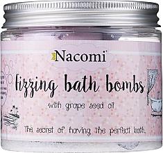 Düfte, Parfümerie und Kosmetik Brausende Badebomben 4 St. - Nacomi Fizzing Bath Bomb With Grape Seed Oil