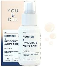 Düfte, Parfümerie und Kosmetik Nährendes und belebendes Gesichtsöl für Männer - You & Oil Nourish & Invigorate Men's Skin Face Oil