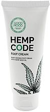 Düfte, Parfümerie und Kosmetik Feuchtigkeitsspendende Fußcreme für trockene und normale Haut mit Hanföl - Good Mood Hemp Code Foot Cream