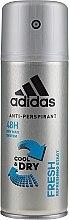 Düfte, Parfümerie und Kosmetik Deodorant - Adidas Anti-Perspirant Fresh Cool & Dry 48H