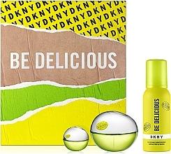 Düfte, Parfümerie und Kosmetik DKNY Be Delicious - Duftset (Eau de Parfum 100ml + Duschmousse 100ml + Eau de Parfum Mini 7ml)