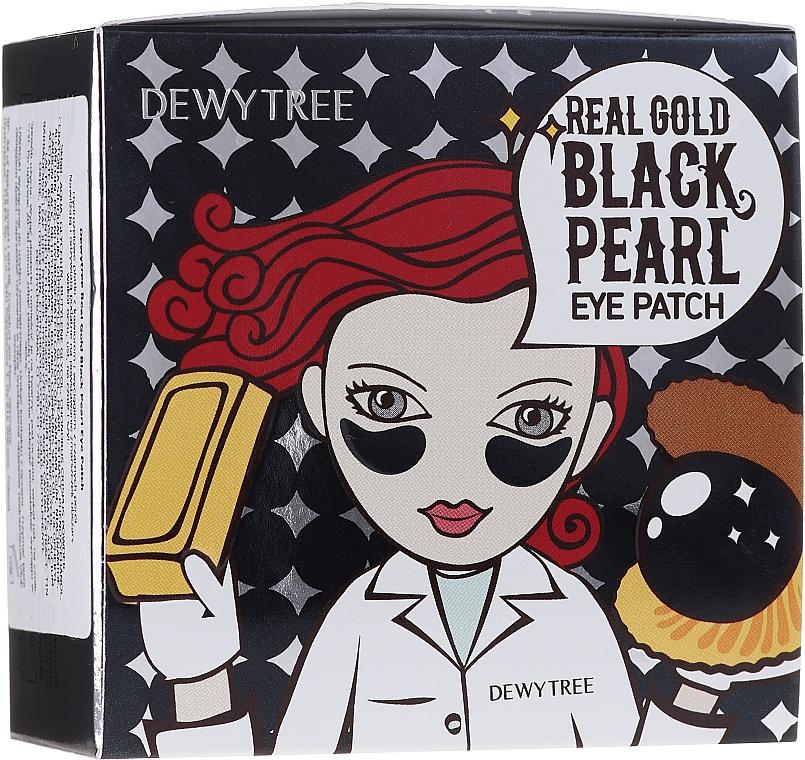 Augenpatches mit Gold und schwarzen Perlen - Dewytree Real Gold Black Pearls Eye Patch