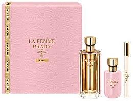 Düfte, Parfümerie und Kosmetik Prada La Femme L'Eau - Duftset (Eau de Toilette 100ml + Körperlotion 100ml + Eau de Toilette Mini 10ml)