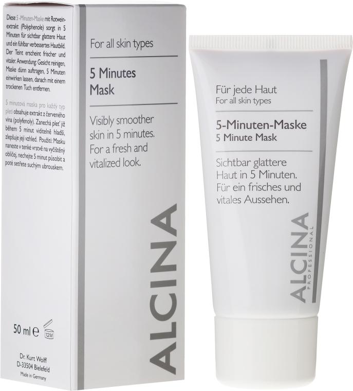 Gesichtsmaske für sichtbar glattere Haut in 5 Minuten - Alcina B 5 Minute Mask — Bild N1
