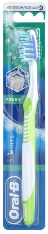Zahnbürste mittel 3D White Fresh hellgrün-weiß - Oral-B 3d White — Bild N1