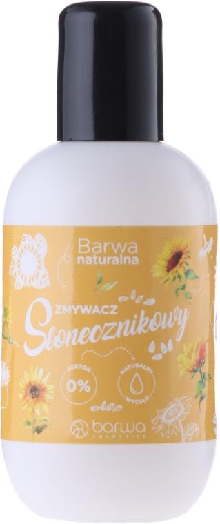 Acetonfreier Nagellackentferner mit Sonnenblumenextrakt - Barwa Natural Nail Polish Remover — Bild N1