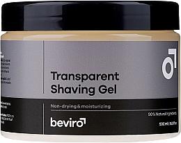 Düfte, Parfümerie und Kosmetik Feuchtigkeitsspendendes Rasiergel transparent - Beviro Transparent Shaving Gel