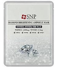 Düfte, Parfümerie und Kosmetik Aufhellende Tuchmaske für das Gesicht mit Diamantpulver - SNP Diamond Brightening Ampoule Mask