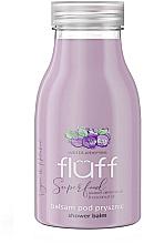 Düfte, Parfümerie und Kosmetik Feuchtigkeitsspendender Duschbalsam mit wilden Blaubeeren, Mandel- und Kokosnussöl - Fluff Shower Balm